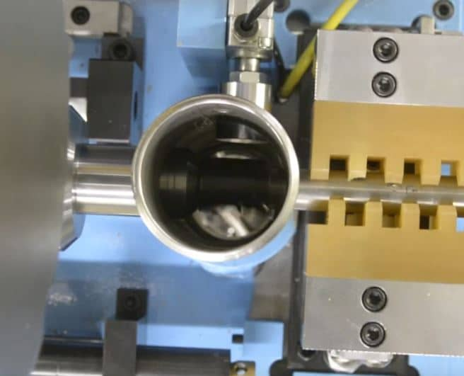 Tube Chamfering Machine Example in Action